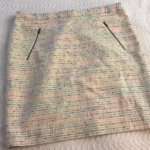 Halogen Multicolor Tweed Pencil Skirt